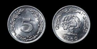 Antikviteten myntar av afrikanska länder royaltyfria foton