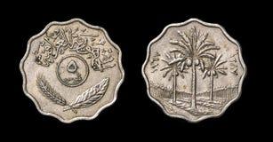 Antikviteten myntar av afrikanskt land royaltyfri bild