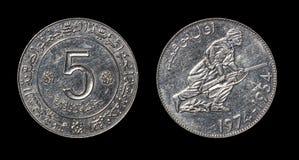 Antikviteten myntar av afrikanskt land royaltyfria foton