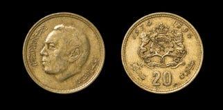 Antikviteten myntar av afrikanskt land royaltyfri foto
