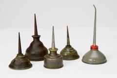 antikviteten på burk olja royaltyfria foton