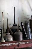 antikviteten på burk olja fotografering för bildbyråer