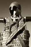 Antikviteten passar av armoren royaltyfri foto