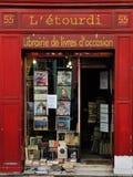 Antikviteten shoppar i Paris arkivfoto
