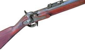 Antikviteten tystar ned päfyllningsskjutvapnet som isoleras på vit royaltyfria bilder