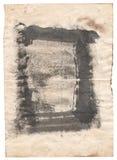 Antikvitetpapper för gammal stil på vit bakgrund Royaltyfri Fotografi
