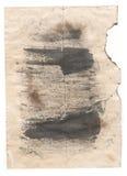 Antikvitetpapper för gammal stil på vit bakgrund Arkivbild