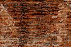 Antikvitettegelstenvägg från forntida Arkivbild