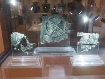 The Antikythera mechanism is an ancient Greek analogue computer. The Antikythera mechanism royalty free stock photos
