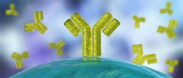 Antilichamen, een mooie wetenschappelijke abstracte achtergrond royalty-vrije illustratie