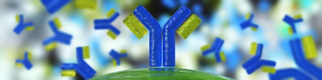 Antilichamen, een mooie wetenschappelijke abstracte achtergrond vector illustratie