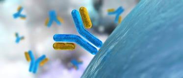 Antilichamen en virus royalty-vrije illustratie
