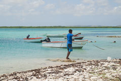 Antillean boy fishing Stock Photography
