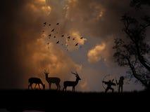 Antilope di caccia illustrazione vettoriale