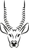 Antilope hoofd grafisch Royalty-vrije Stock Afbeelding