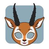 Antilopemasker voor festiviteiten stock illustratie