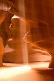 Antilopen-Schlucht-Sonnenstrahl Stockbild