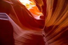 Antilopkanjon Arizona på den near sidan för Navajoland Royaltyfria Foton