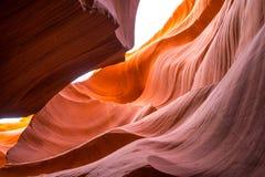 Antilopkanjon, Arizona, USA, sjö Powell Royaltyfria Foton