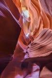 Antilopkanjon i den near sidan för Navajoreservation, Arizona, USA Arkivbild