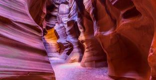 Antilopkanjon i sidan, Arizona Fotografering för Bildbyråer