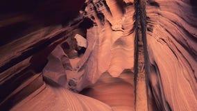Antilopkanjon, Navajoterritorium, Arizona inre royaltyfri fotografi