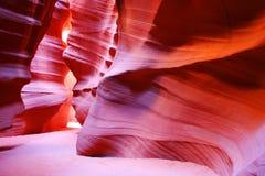 Antilopkanjon, sida, Arizona, USA Arkivfoto