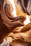 Antilopkanjonerna, lägre kanjon royaltyfri fotografi