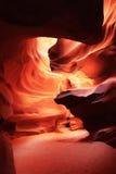 Antilopspringakanjon i sidan, AZ Arkivbild