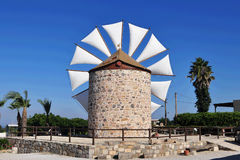 Antimachia windmill,Greece Royalty Free Stock Photography