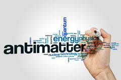 Antimatter word cloud concept on grey background Stock Photos