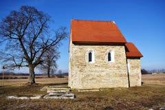 Antioch圣玛格丽特教会,在其中任一KopÄ 附近,斯洛伐克, 免版税库存照片