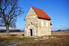 Antioch圣玛格丽特教会,在其中任一KopÄ 附近,斯洛伐克, 图库摄影