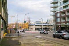 Antioch大学街市西雅图 免版税库存照片