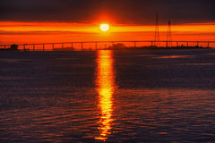 Antioch Bridge Sunrise Stock Photos