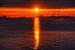Antioch mosta wschód słońca Zdjęcia Stock