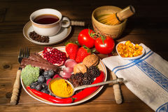 Antioxidant dinner Stock Photography