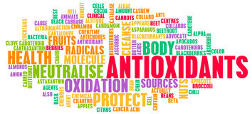 Antioxidantes ilustração royalty free