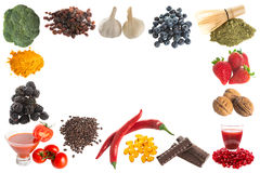 Antioxidants border Royalty Free Stock Photo