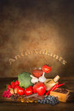Antioxidants fruits and vegetables Royalty Free Stock Images