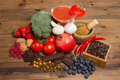 Antioxidants for good health Stock Images