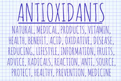 Antioxidants word cloud Stock Photo