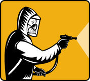 Antiparassitario del exterminator del parassita Immagini Stock Libere da Diritti