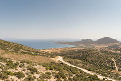 Antiparos island. In Greece landscape from top of a mountain stock photos