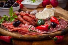Antipasti και platter Fingerfood Στοκ Φωτογραφίες