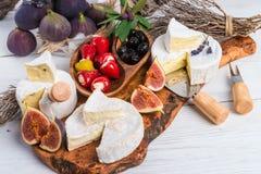 Antipasti μαλακών τυριών Στοκ Εικόνα