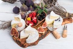 Antipasti μαλακών τυριών Στοκ φωτογραφίες με δικαίωμα ελεύθερης χρήσης