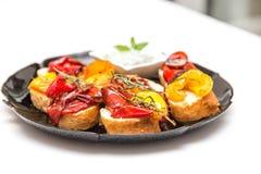 Antipasti με το baguette Στοκ Εικόνες