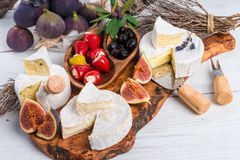 Antipasti do queijo macio Imagem de Stock