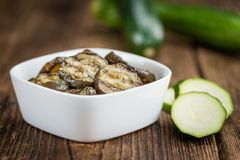 Antipasti Grilled Zucchinis selective focus, close-up shot Royalty Free Stock Photo